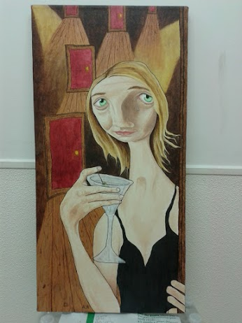 The Saddest Girl to Ever Hold a Martini (acrylics and liquid acrylics).jpg